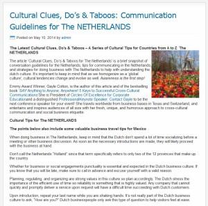 Cultural tips Netherlands